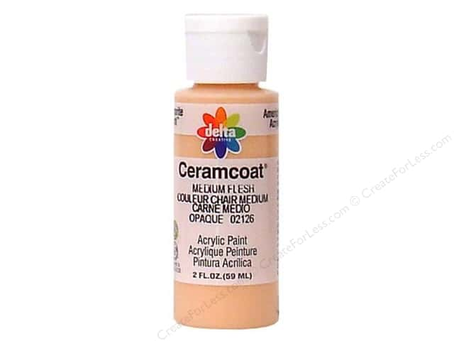 Ceramcoat Acrylic Paint by Delta 2 oz. #2126 Medium Flesh