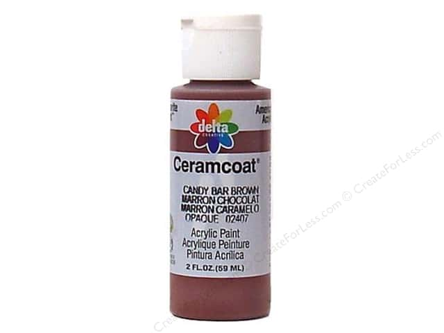Ceramcoat Acrylic Paint by Delta 2 oz. #2407 Candy Bar Brown