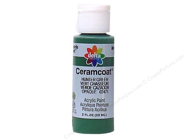 Ceramcoat Acrylic Paint by Delta 2 oz. #2471 Hunter Green