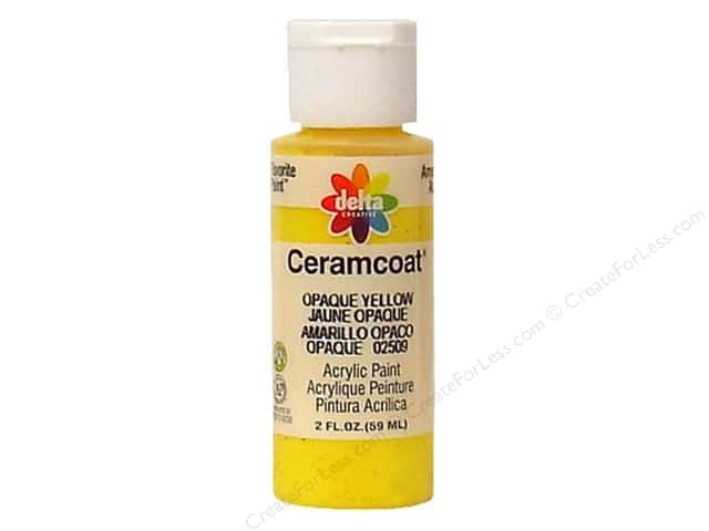 Ceramcoat Acrylic Paint by Delta 2 oz. #2509 Opaque-Yellow