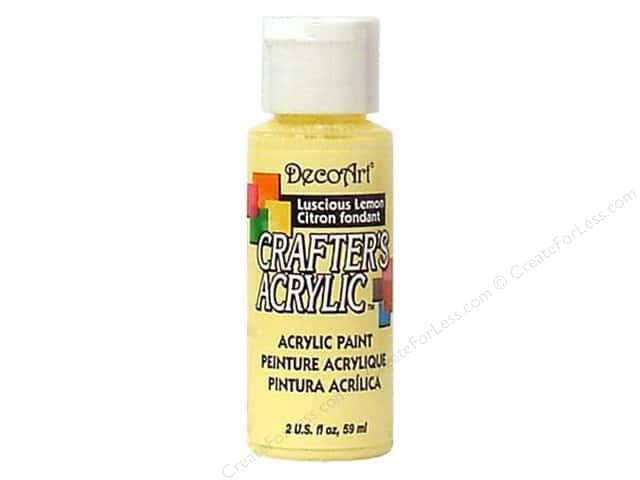 DecoArt Crafter's Acrylic Paint 2 oz. #52 Luscious Lemon