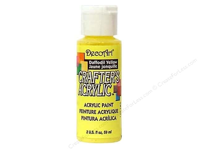 DecoArt Crafter's Acrylic Paint 2 oz. #53 Daffodil Yellow