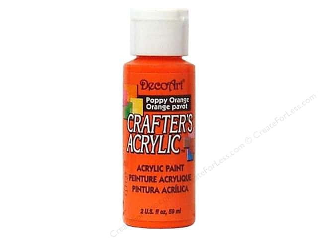 DecoArt Crafter's Acrylic Paint 2 oz. #56 Poppy Orange