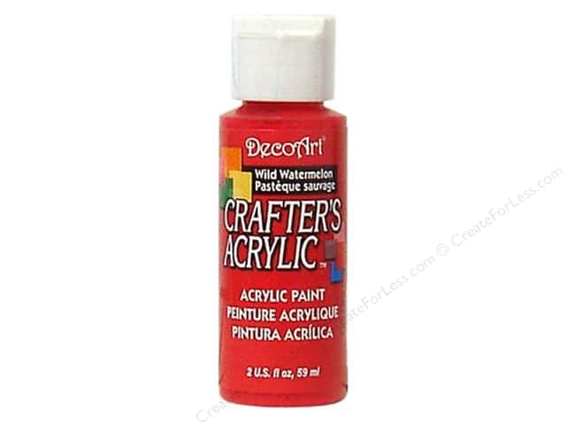DecoArt Crafter's Acrylic Paint 2 oz. #65 Wild Watermelon