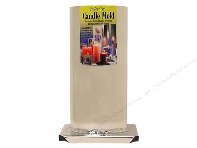 Yaley Metal Candle Mold 3 x 6 1/2 in. Round Cylinder