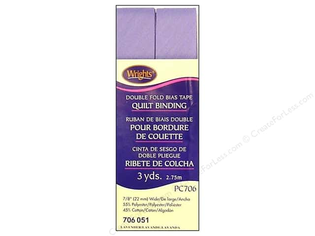 Wrights Double Fold Quilt Binding - Lavender 3 yd.