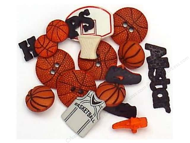 Jesse James Dress It Up Embellishments Sports Collection Basketball