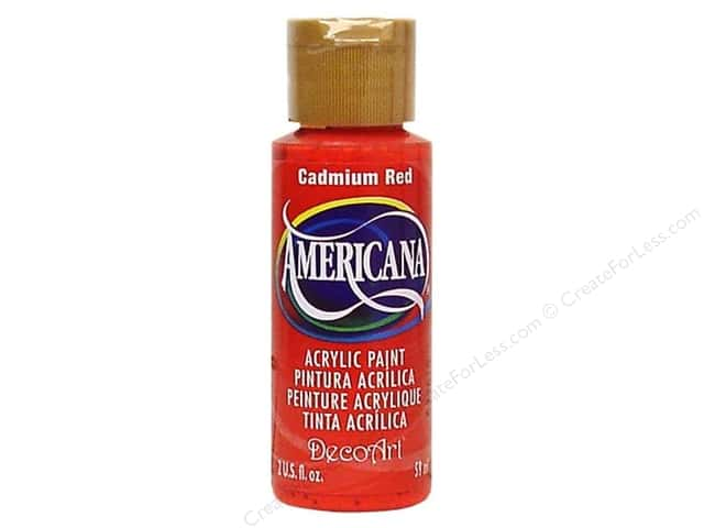 DecoArt Americana Acrylic Paint 2 oz. #015 Cadmium Red