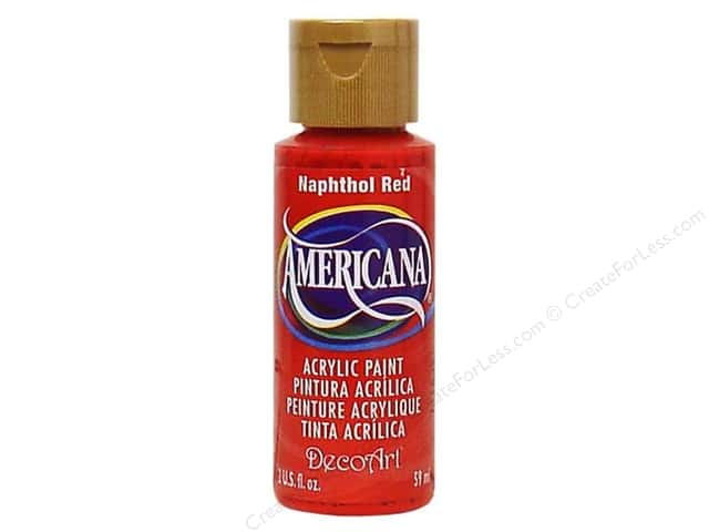 DecoArt Americana Acrylic Paint 2 oz. #104 Napthol Red