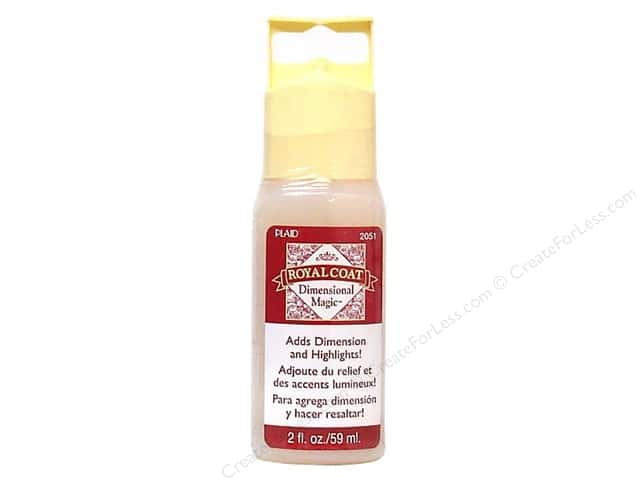 Plaid Royal Coat Dimensional Magic 2 oz. Clear