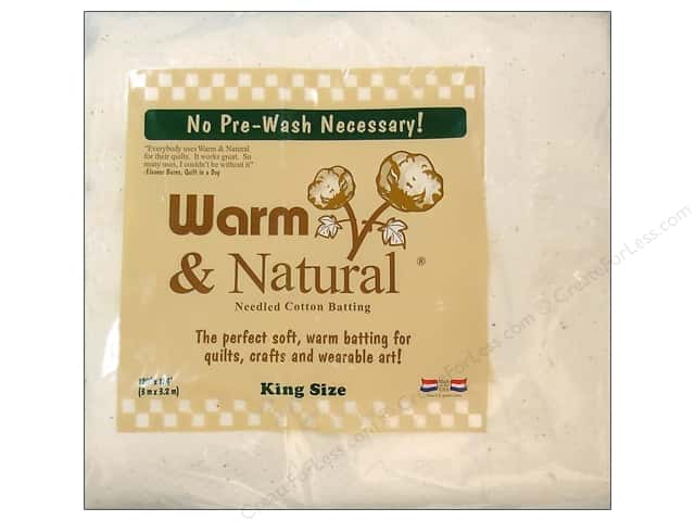 The Warm Company Warm and Natural Cotton Batting King 120 x 124 in.