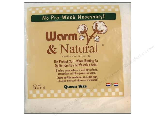 The Warm Company Warm and Natural Cotton Batting Queen 90 x 108 in.