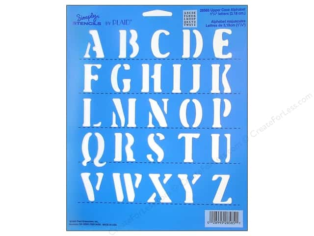 Plaid Alphabet Stencils 8 x 10 in. Upper Case