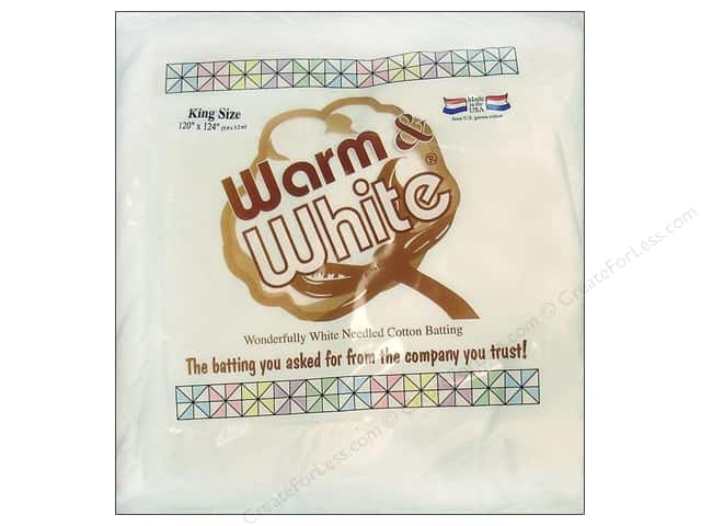 The Warm Company Warm & White Cotton Batting King 120 x 124 in.