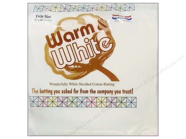 The Warm Company Warm and White Cotton Batting Twin 70 x 90 in.