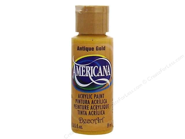 DecoArt Americana Acrylic Paint 2 oz. #09 Antique Gold