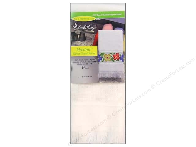 Charles Craft Maxton Guest Towel White