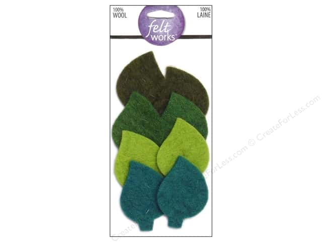 Dimensions Feltworks 100% Wool Felt Embellishment Leaves