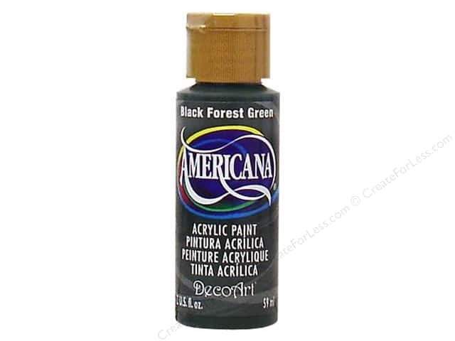 DecoArt Americana Acrylic Paint 2 oz. #083 Black Forest Green