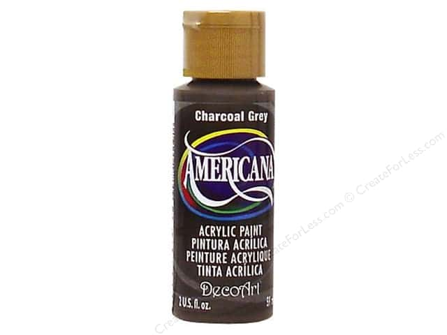 DecoArt Americana Acrylic Paint 2 oz. #088 Charcoal Grey