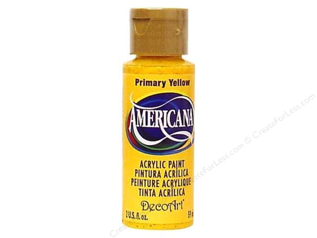 DecoArt Americana Acrylic Paint 2 oz. #201 Primary Yellow