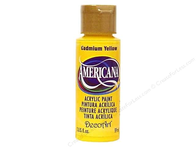 DecoArt Americana Acrylic Paint 2 oz. #010 Cadmium Yellow