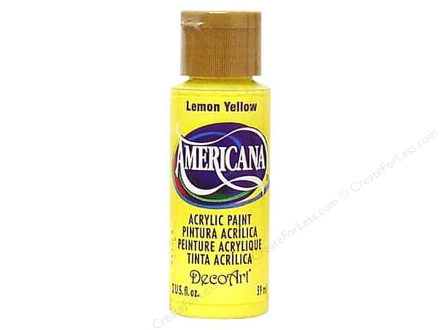 DecoArt Americana Acrylic Paint 2 oz. #011 Lemon Yellow