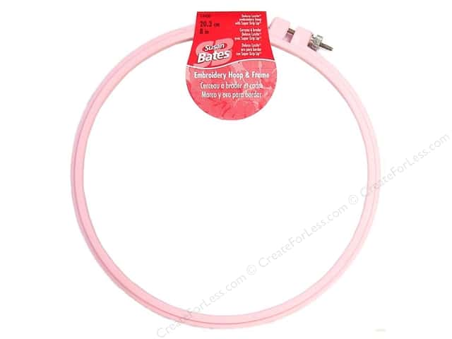 Susan Bates Plastic Embroidery Hoops 8 in. Pink