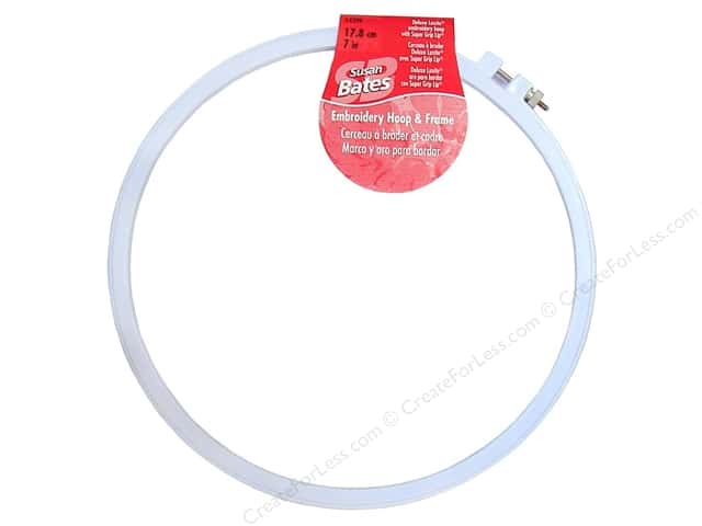 Susan Bates Plastic Embroidery Hoops 7 in. Blue