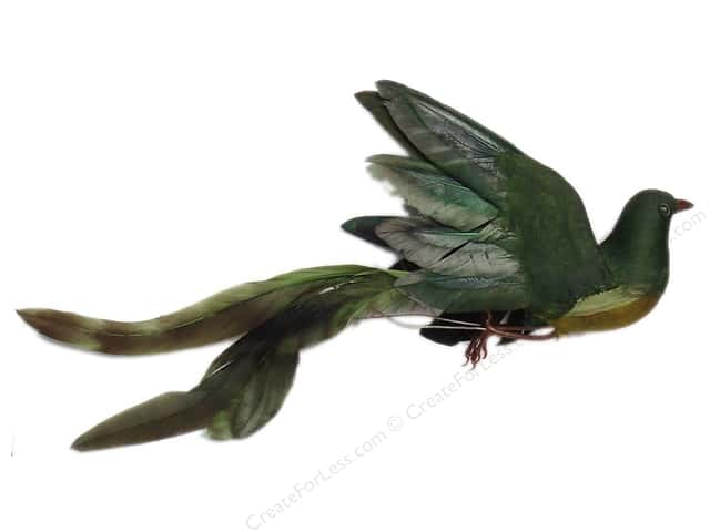 Accent Design Artificial Bird 8 1/2 in. Tropical Forest/Black Feather 1 pc.