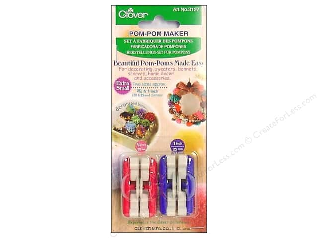 Clover Pom Pom Maker - Extra Small 2 pc.