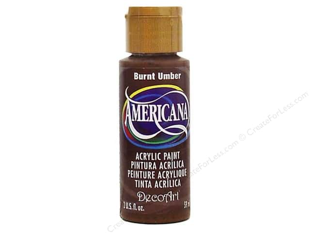DecoArt Americana Acrylic Paint 2 oz. #064 Burnt Umber