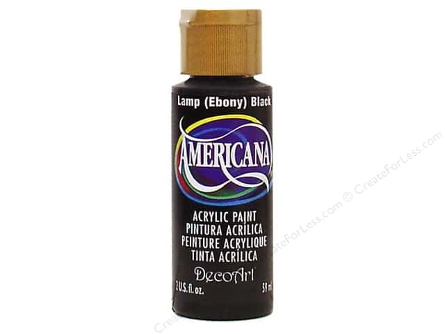 DecoArt Americana Acrylic Paint 2 oz. #067 Ebony Black