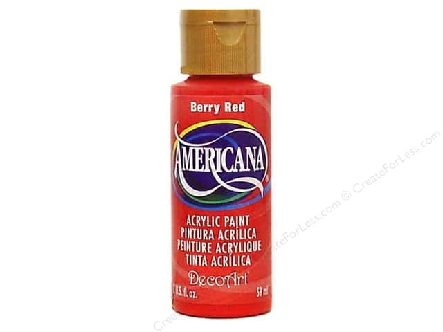 DecoArt Americana Acrylic Paint 2 oz. #019 Berry Red