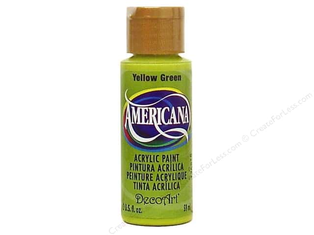 DecoArt Americana Acrylic Paint 2 oz. #134 Yellow Green
