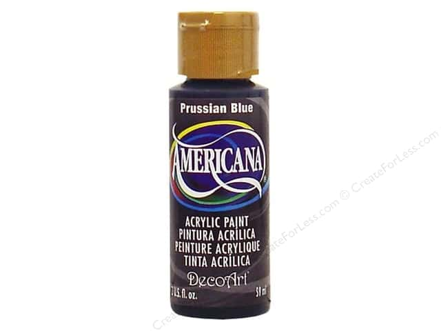 DecoArt Americana Acrylic Paint 2 oz. #138 Prussian Blue