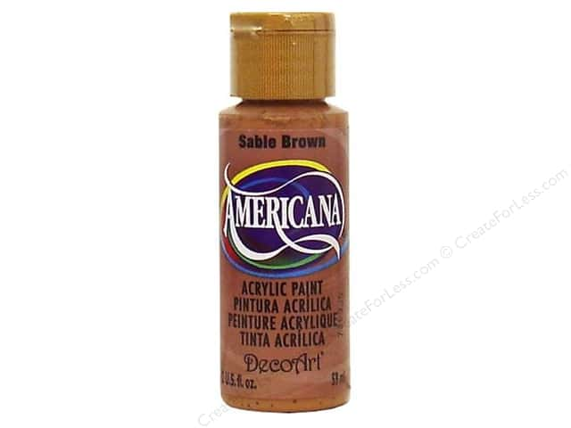 DecoArt Americana Acrylic Paint 2 oz. #061 Sable Brown