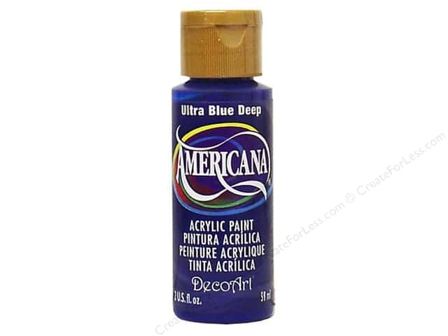 DecoArt Americana Acrylic Paint 2 oz. #100 Ultra Blue Deep