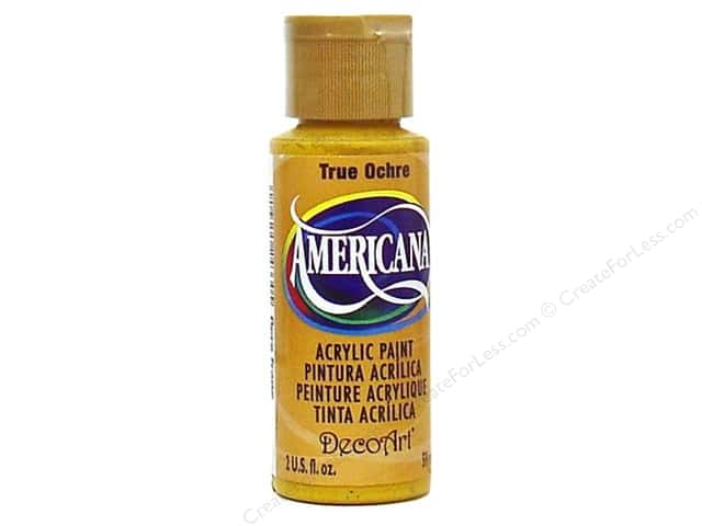 DecoArt Americana Acrylic Paint 2 oz. #143 True Ochre