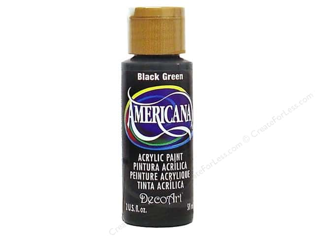 DecoArt Americana Acrylic Paint 2 oz. #157 Black Green