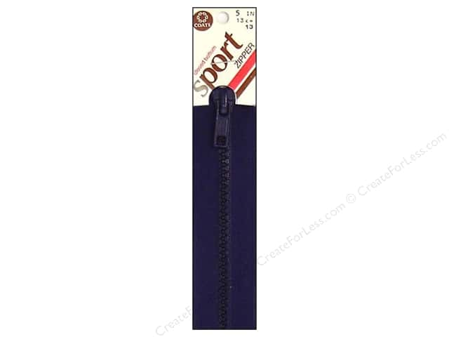 Coats Closed Bottom Molded Sport Zipper 5 in. Navy