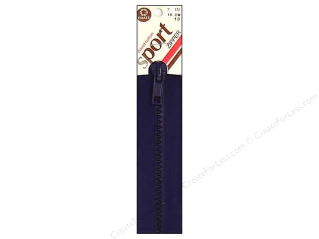 Coats Closed Bottom Molded Sport Zipper 7 in. Navy