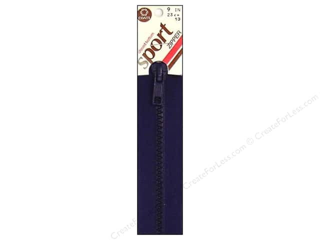 Coats Closed Bottom Molded Sport Zipper 9 in. Navy