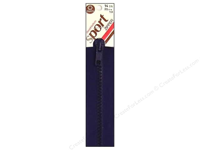 Coats Closed Bottom Molded Sport Zipper 14 in. Navy