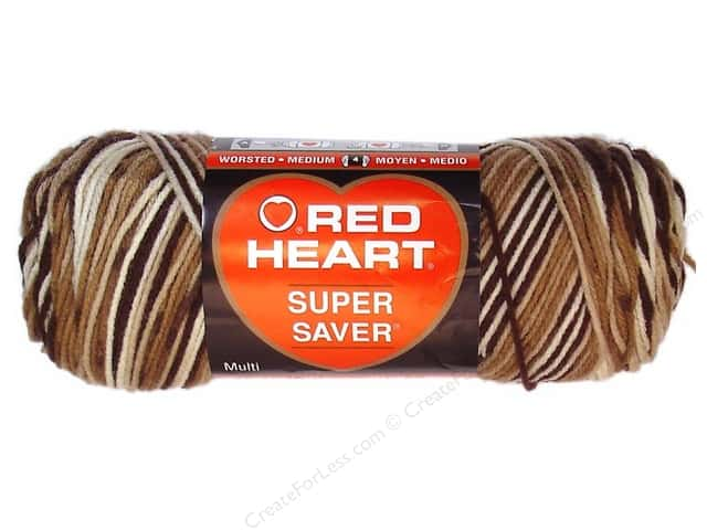 Red Heart Super Saver Yarn #0992 Shaded Brown 236 yd.