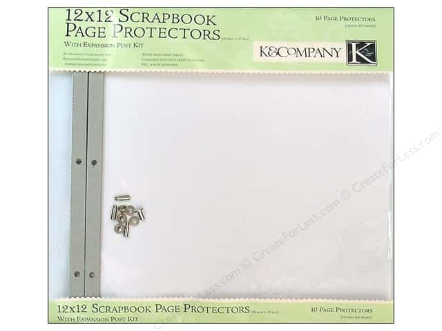 "K&Company Page Protector Refill Kit 12""x 12"" Clear 10pc"