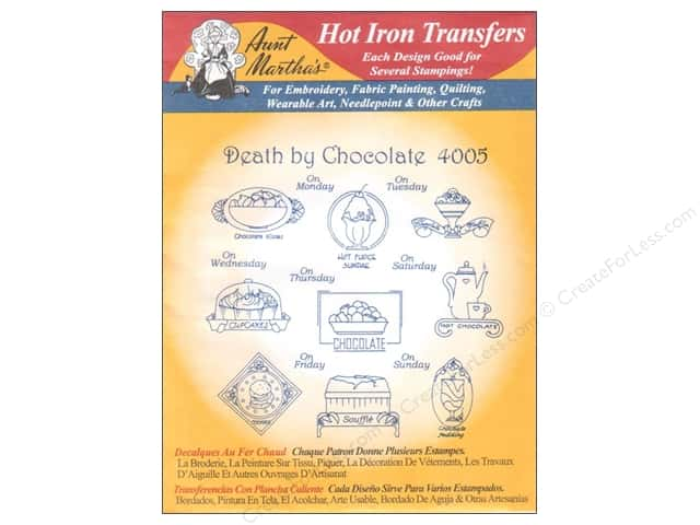Aunt Martha's Hot Iron Transfer #4005 Death By Chocolate