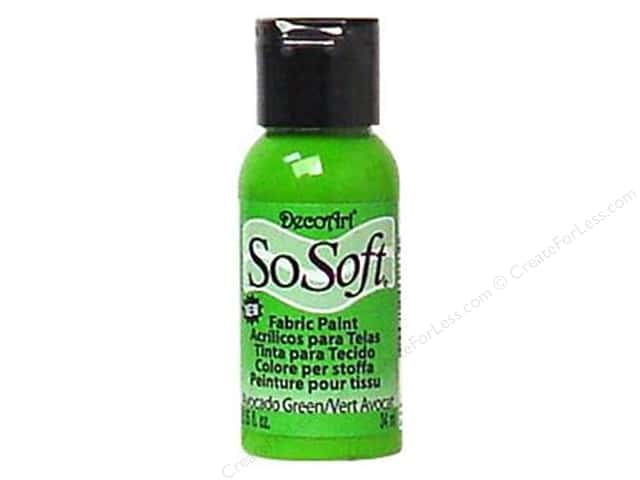 DecoArt SoSoft Fabric Paint 1.15 oz. #99 Bright Avocado Green