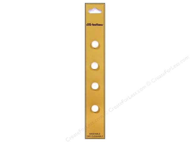 Dill Shank Buttons 5/16 in. White 4pc.