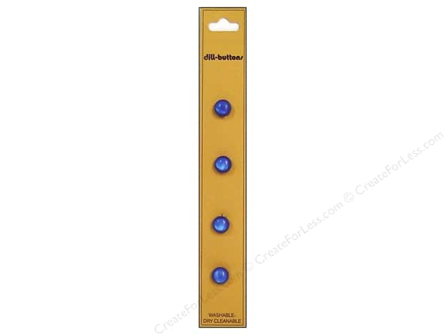 Dill Shank Buttons 5/16 in. Royal Blue 4pc.
